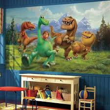 roommates 72 in w x 126 in h the good dinosaur xl chair rail 7 h the good dinosaur xl chair rail 7 panel prepasted wall mural jl1372m the home depot