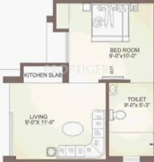 300 sq ft 1 bhk floor plan image balaji dham weekend campus