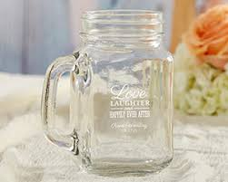 jar wedding favors personalized 16 oz jar mug wedding favors by kate aspen