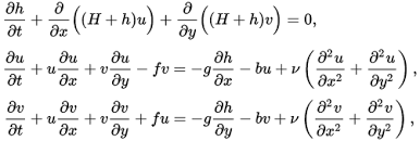Ap Physics C Reference Table Shallow Water Equations Wikipedia