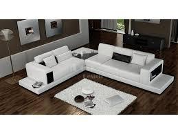 canapé d angle de luxe canapé d angle design en cuir arezzo xl table intégrée pop design