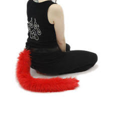 60cm Black Halloween Cat Tail Fancy Dress Accessories Animal by Halloween Costume Wings Tails Ebay