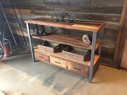 Barn Wood Shelves Tall Reclaimed Wood Media Console U0026 Shelving Unit What We Make