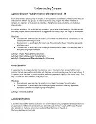 sle resumes for various jobs c counselor resumeple yun56 co leader exle templates summer c