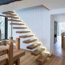 Box Stairs Design China New Design Wooden Box Tread Led Stair Floating Staircase For