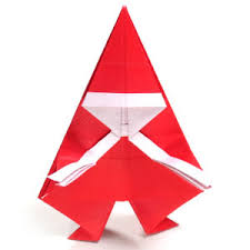 How To Make A Origami Santa - how to make a simple origami santa claus page 1