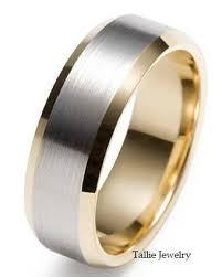 gold wedding band mens mens white and yellow gold wedding bands tbrb info