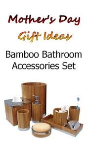 Matching Bathroom Accessories Sets Bamboo Bathroom Accessories Set Matching Pieces Include Cotton