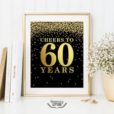 60 letters for 60th birthday 60th birthday cheers to 60 years 60th birthday decor set of 2
