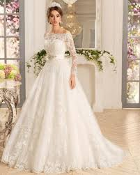 sle sale wedding dresses new arrival the shoulder with beaded sash a line sleeve