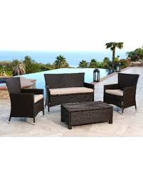 Conversation Sets Patio Furniture by Here U0027s A Great Price On Abbyson Newport Outdoor Espresso Brown