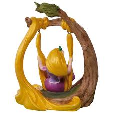 disney tangled rapunzel in the swing solar motion ornament