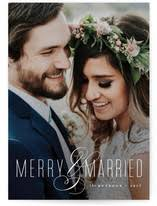newly wed christmas card wedding cards minted