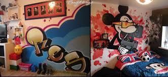 Graffiti Bedroom Walls From A Contemporary Street Artist - Graffiti bedroom