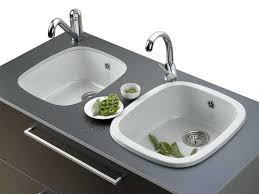 white plastic kitchen sink