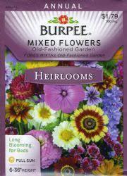 burpee burpee 39548 heirloom mixed flowers old fashioned garden