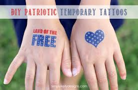 more diy patriotic temporary tattoos simply kelly designs