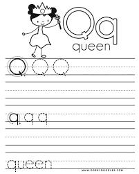 letter q writing practice printables u2013 dorky doodles
