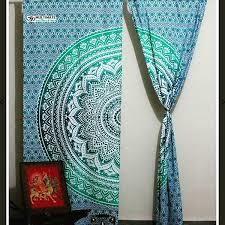 Hippie Beaded Door Curtains Mandala Hippie Tapestry Curtain Bohemian Door Curtain