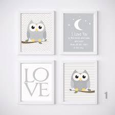 Owl Nursery Prints Wall Art Kids Room Decor  A Set Baby Girl Or - Kid room wall art