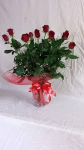 70cm Vase 70cm Red Roses With Vase Lombardos Flowers