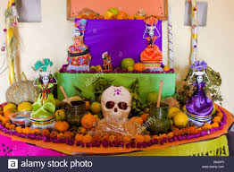 Oaxaca Mexico Day of the Dead Altar Decorations in Memory of