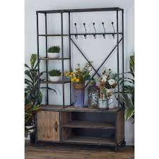 rustic coat rack entryway furniture furniture the home depot