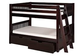 Amazoncom Camaflexi Mission Style Solid Wood Low Bunk Bed With - Wooden bunk beds with drawers