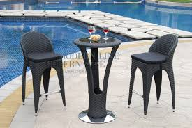 Bar Patio Furniture Clearance 3pc Wicker Bar Set Patio Outdoor Backyard Table Stools Rattan