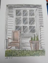 house porch drawing pretty front porch door
