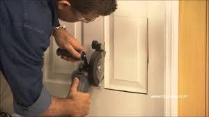 six panel doors interior dualsaw installing a pet door youtube