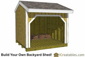 Plans For Building A Firewood Shed by Firewood Shed Plans Diy Wood Bins Easy To Build Wood Shed Designs
