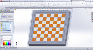 solidworks linear pattern tutorial modeling checkers board in solidworks grabcad tutorials