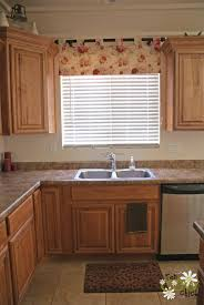Kitchen Over Sink Lighting by Valance Over Kitchen Sink With Light Wood Valance Over Sink