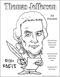 free printable coloring pages of us presidents thomas jefferson coloring page thomas jefferson coloring page free