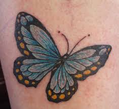 cool butterfly tattoos design on wrist for zentrader