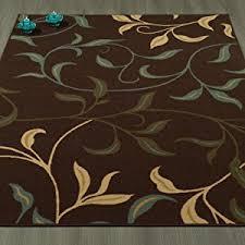 Low Profile Rug Amazon Com Ottomanson Otto Home Contemporary Leaves Design Modern