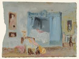 a bedroom a figure in bed u0027 joseph mallord william turner 1827
