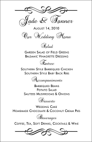wedding drink menu template wedding menu templates and easy menus for your big day