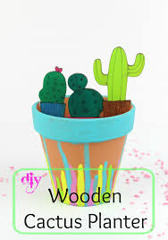 diy wooden cactus planter ef zin creations