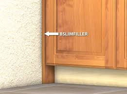 what is a cabinet base filler slim base cabinet filler for use in tight cabinet locations
