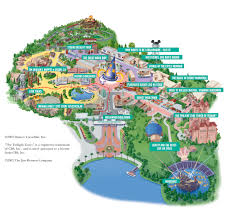 Orlando Parks Map by Disney Maps Theme Park And Resort Maps Disney Magic Kingdom Map