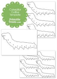 printable caterpillar outline template u2014 printable treats com