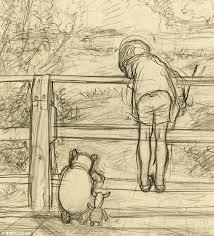 e h shepard u0027s winnie the pooh sketch that first captured the