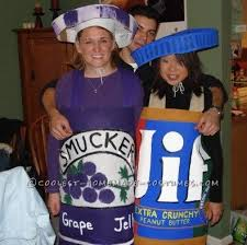 Inappropriate Couples Halloween Costumes Sweet Peanut Butter Jelly Couple Costume Sweet Peanuts