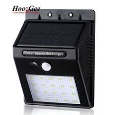 Solar Powered Wall Lights Uk - auto sense solar power 8led light lamp pir for shed wall garden
