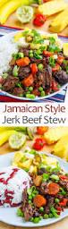 jamaican style jerk beef stew on closet cooking