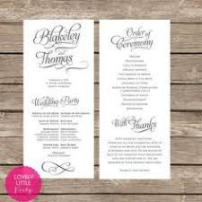 classic wedding programs wedding program template instant edit wording chic