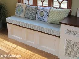 storage bench with cushion plans cushions decoration
