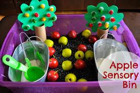 thanksgiving sensory bin apple orchard sensory bin i heart crafty things
